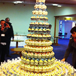 Corporate logo cupcake towers